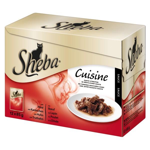 Sheba Katzenfutter Cuisine Multipack 12x85g