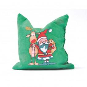 Aumüller Weihnachtskissen Ho Ho Ho Katzenspielkissen mit Baldrian und Dinkelspelz