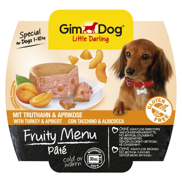 GimDog Little Darling Pâté Truthahn und Aprikose