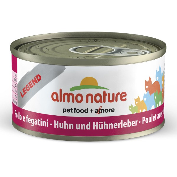 Almo Nature Legend Katzenfutter 24x70g Huhn & Leber