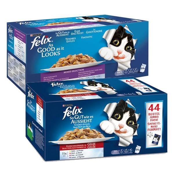Felix So gut wie es aussieht Geschmacksvielfalt vom Land und Fleisch Mix 88x100g