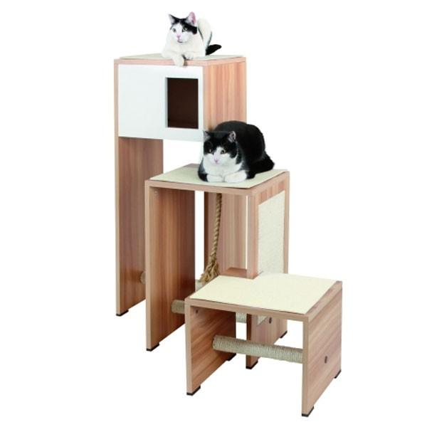 Haustier Angebot: Kerbl Kratzmöbel Ambiente 96 x 87 x 100cm – Holzdekor/Weiß