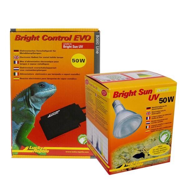 Lucky Reptile Bright Sun + Bright Control EVO Desert 50 Watt