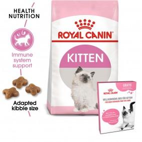 ROYAL CANIN Feline Health Nutrition Kitten 10kg + ROYAL CANIN Willkommens-Box Kitten