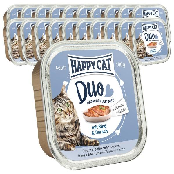 Happy Cat Paté auf Häppchen versch. Sorten 36x100g