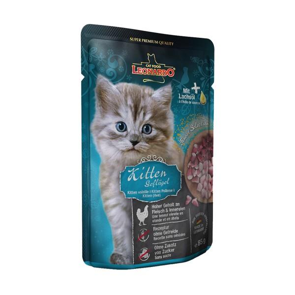 Leonardo Finest Selection Kitten Geflügel pur mit Lachsöl