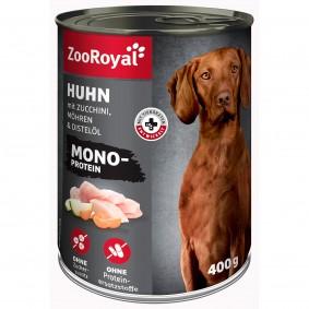 ZooRoyal Mono-Protein mit Huhn, Zucchini, Möhren & Distelöl