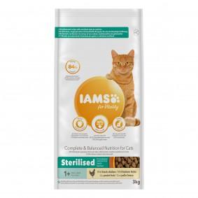 IAMS for Vitality für sterilisierte Katzen mit frischem Huhn 3kg