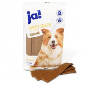 ja! Hundefutter Kaustreifen mit  Geflügel (20 Stück)