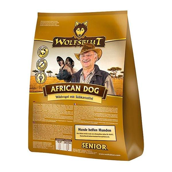 Wolfsblut Hundefutter African Dog Senior Wildvogel+Süßkartoffel