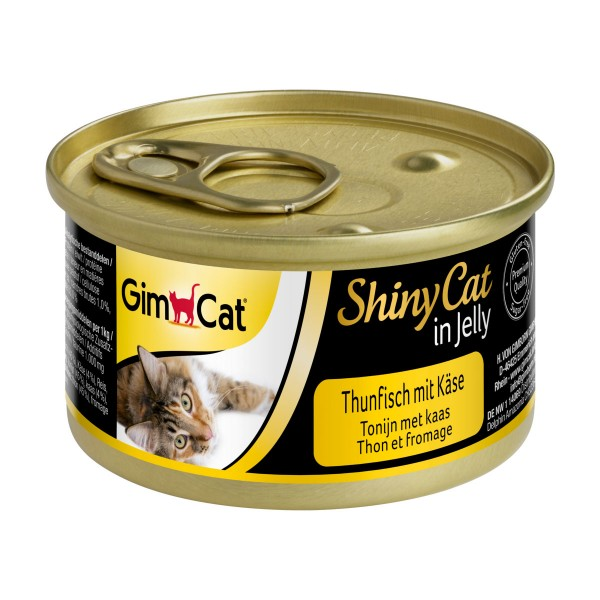 GimCat ShinyCat in Jelly Thunfisch mit Käse
