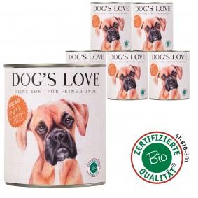 Dog's Love Bio Pute mit Amaranth, Kürbis & Petersilie 800g 11 plus 1