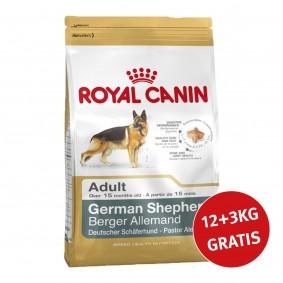 Royal Canin German Shepherd Adult  12kg+3kg Gratis!