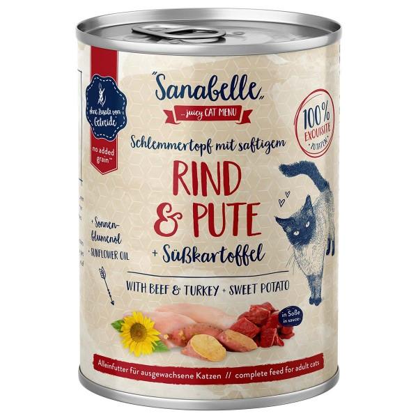 Sanabelle Schlemmertopf mit Rind & Pute