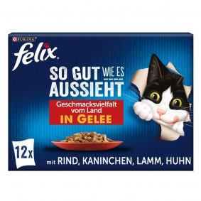 FELIX So gut wie es aussieht in Gelee Geschmacksvielfalt vom Land 12x85g