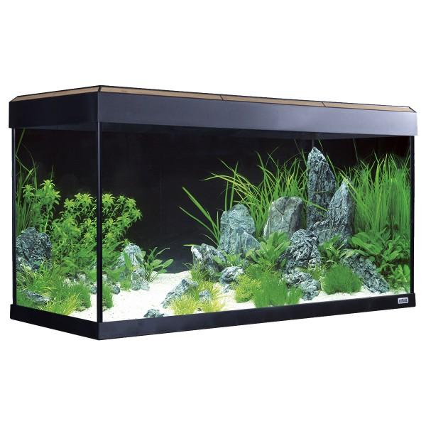 Fluval Aquarium Roma 200 mit Dekorstreifen - Eiche