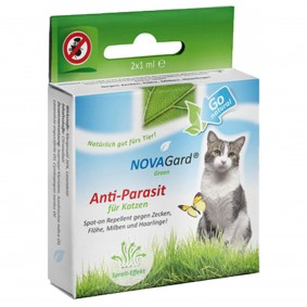 NovaGard Green Anti-Parasit Spot-On pro kočky
