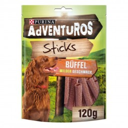 Purina AdVENTuROS Sticks, Hundeleckerli fettarm mit Büffelgeschmack