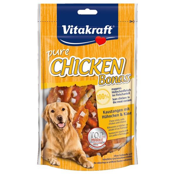 Vitakraft Hundesnack pure Chicken Bonas mit Käse 80g