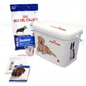 Royal Canin MAXI Junior Hunde-Starterpaket für Welpen