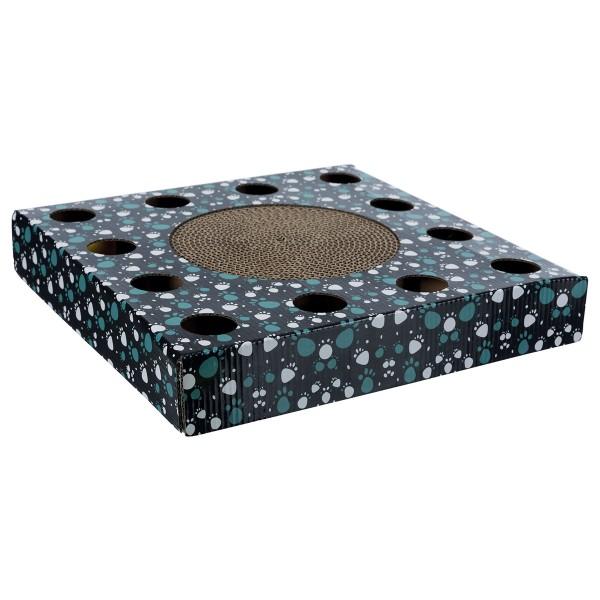 Trixie Kratzpappe mit Spielzeug - schwarz