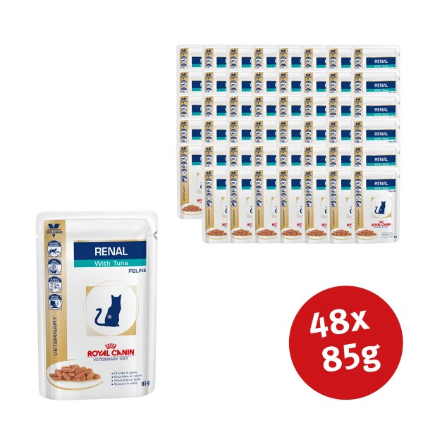 Royal Canin Vet Diet Nassfutter Renal Tuna - 48...