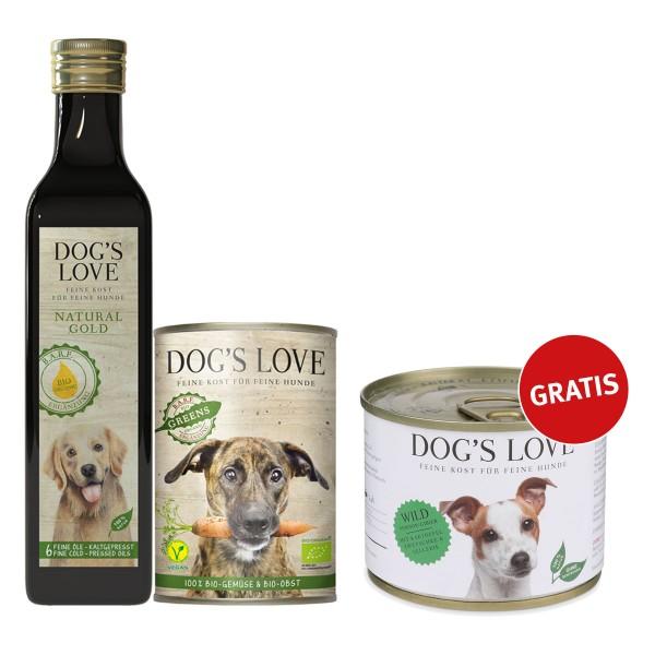 Dog's Love B.A.R.F. Ergänzungen im Testpaket + Nassfutter 200g gratis