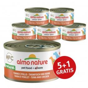 Almo Nature HFC Natural Dog Thunfisch und Huhn 5+1 gratis