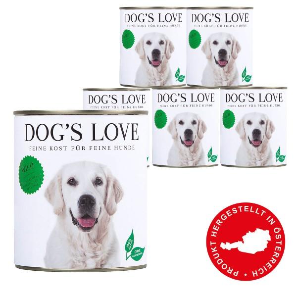 Dog's Love Classic Wild mit Kartoffel, Zwetschke & Sellerie 800g 11 plus 1