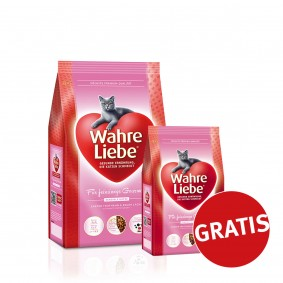 Wahre Liebe Katzenfutter für feinsinnige Gourmets 4kg + 400g GRATIS