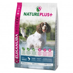 Spectrum Brands Eukanuba NaturePlus+ Adult Medium Breed Lachs - 2,3kg