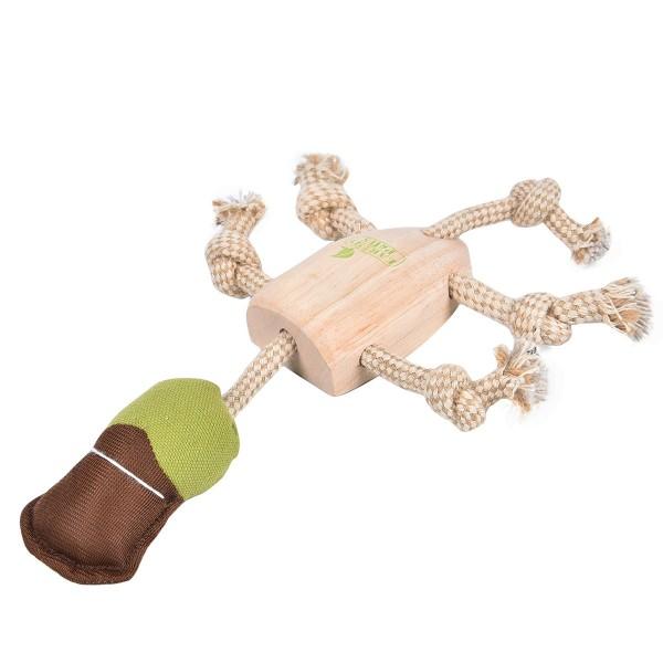 Earthy Pawz Holz Hundespielzeug Ente 19×29cm