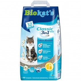 Biokat's Klumpstreu Classic Fresh 3 in 1 Cotton Blossom