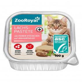 ZooRoyal Lachspastete mit feinen Stückchen auf Joghurtgelee