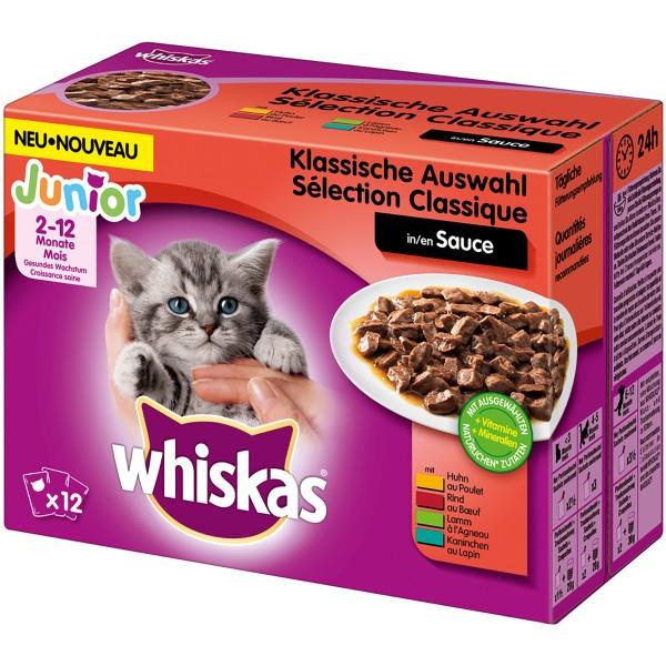 Whiskas Junior Klassische Auswahl in Sauce Multipack