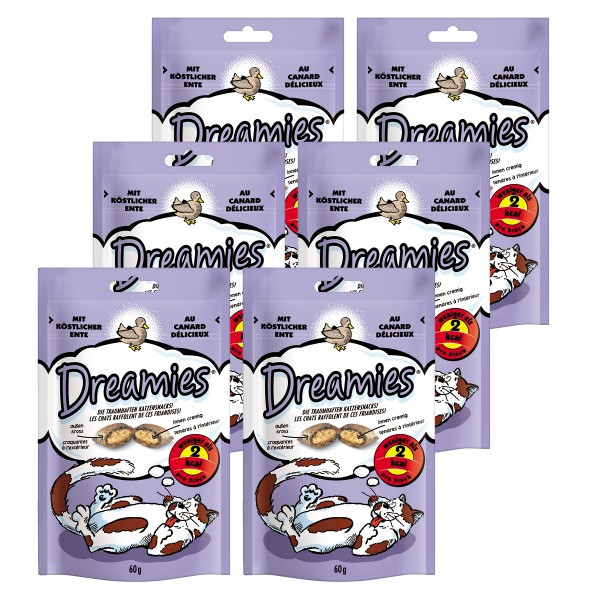 Dreamies au canard pour chats 60 g
