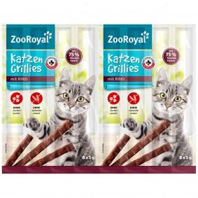 ZooRoyal grilované tyčinky pro kočky s hovězím masem