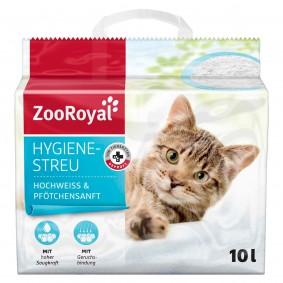 ZooRoyal Katzen-Hygienestreu hochweiss & Pfötchensanft 10 l