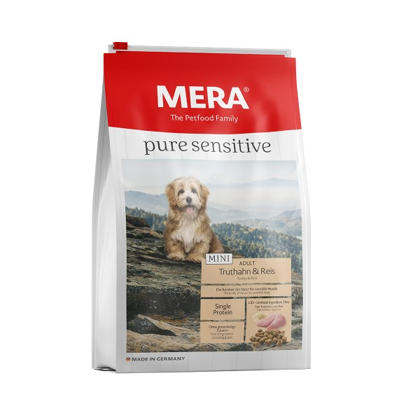 MERA pure sensitive Trockenfutter MINI Truthahn&Reis