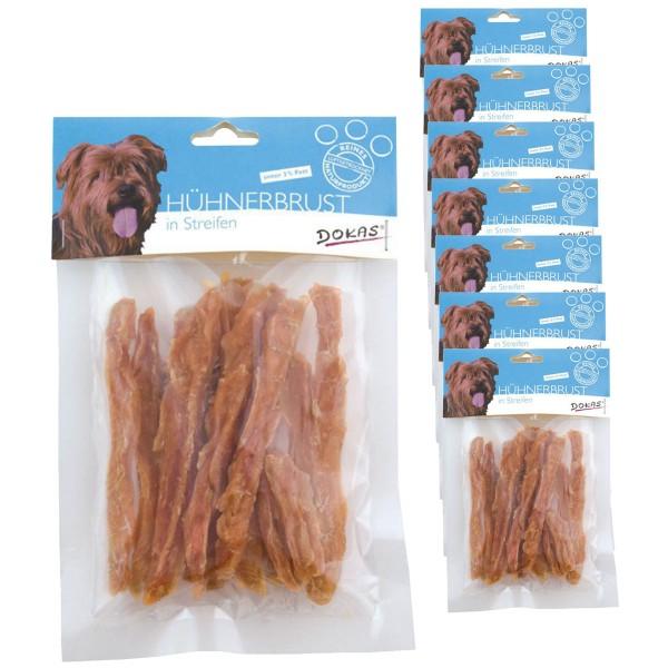 Dokas 2kg Hühnerbrust in Streifen Premium Hundesnack