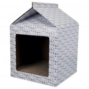 Trixie škrabací domek – bílý