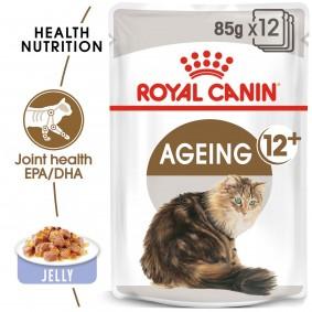 ROYAL CANIN AGEING 12+ in Gelee Nassfutter für ältere Katzen 48x85g