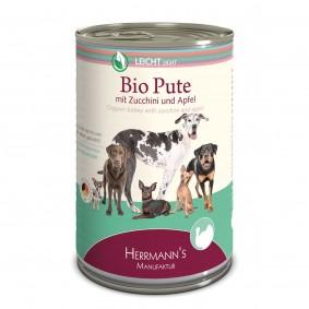 Herrmanns Bio Hundefutter Pute mit Zucchini und Apfel 12x400g
