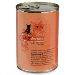 CATZ Finefood Katzen Nassfutter No. 25 Huhn & Thunfisch 400g