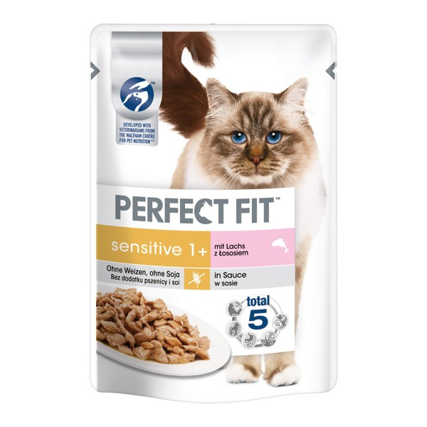 Perfect Fit Katzenfutter Sensitive mit Lachs