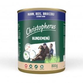 Christopherus Hundemenü Senior mit Huhn, Reis und Broccoli