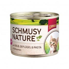 Schmusy Nature's Menü Kitten Kalb+Geflügel+Pasta 190g