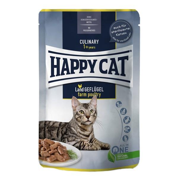 Happy Cat Tray Culinary Meat in Sauce Land Geflügel