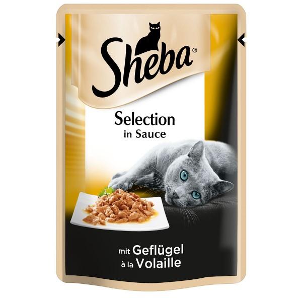 Sheba Katzenfutter Selection in Sauce mit Geflügel