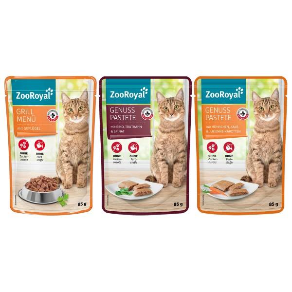 ZooRoyal Pouch Mixpaket Fleisch 72x85g